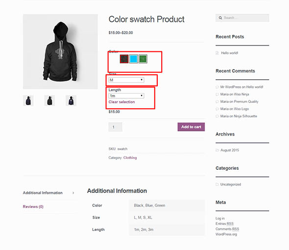 Openswatch Woocommerce