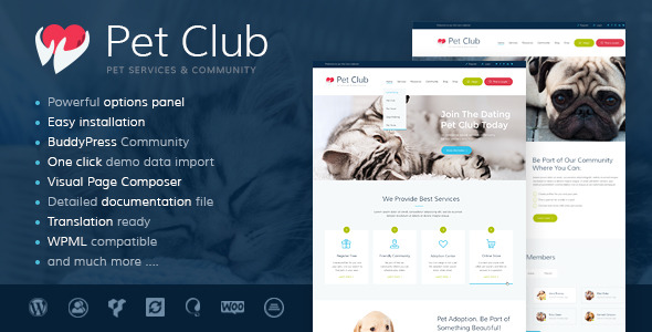 Pet Club Services Adoption Dating Community
