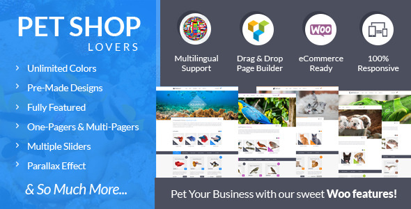 Pet Shop Lovers WooeCommerce WP Theme