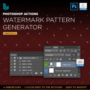 Photoshop Action Watermark Pattern Generator