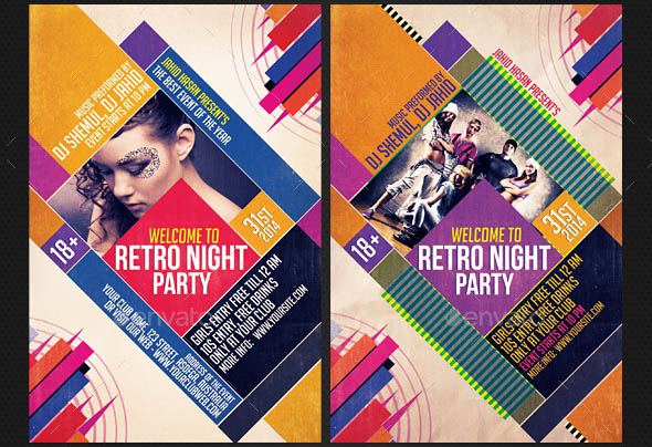 Retro Rocked Indie Flyers Bundle