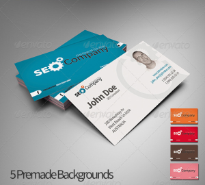Simple And Modern Style Double Sided Business Card