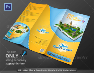 Tour & Travel Trifold Brochure