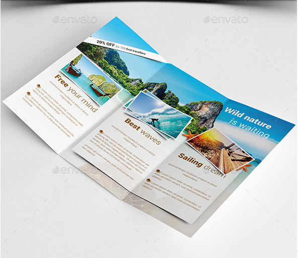 15 beautiful travel vacation brochures templates desiznworld for Travel guide brochure template