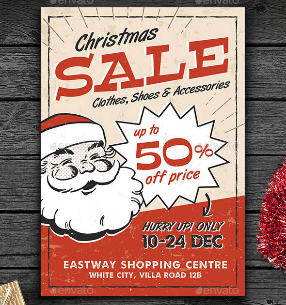 Vintage Christmas Sale Flyer