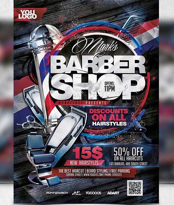 27 cool flyers templates for barber shop desiznworld