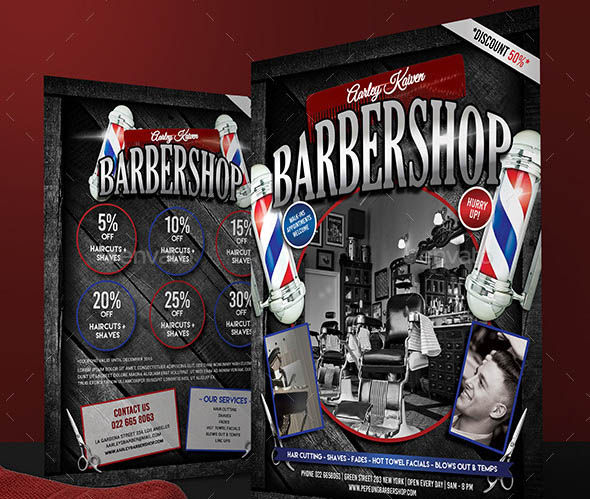 Barbershop Flyer Roll Up Banner