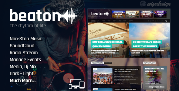 Beaton Music Radio Events WordPress Theme