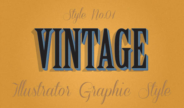 Bundle of Retro Vintage Text Effects