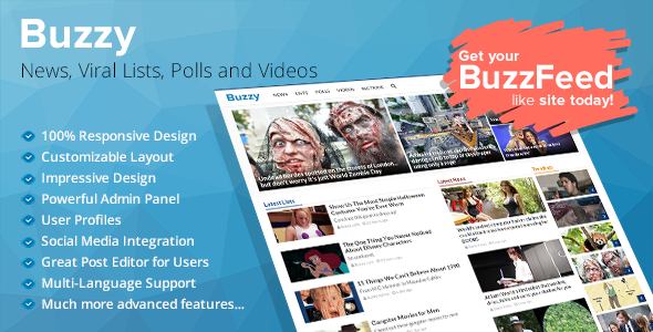 Buzzy News Viral Lists Polls and Videos