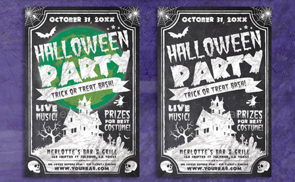 Chalk Halloween Flyer
