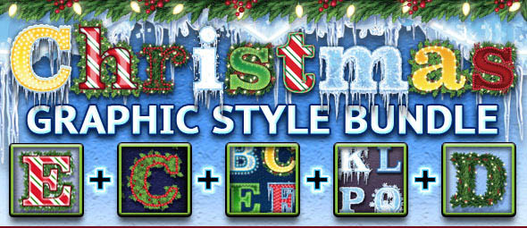 Christmas Graphic Styles Bundle Adobe Illustrator