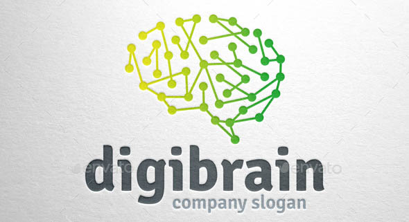 Digi Brain Logo Template