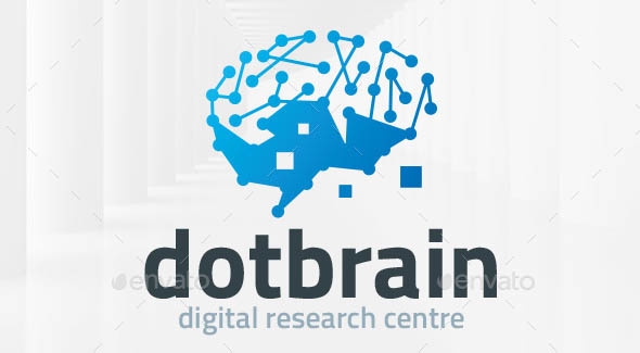 Dot Brain Logo Template