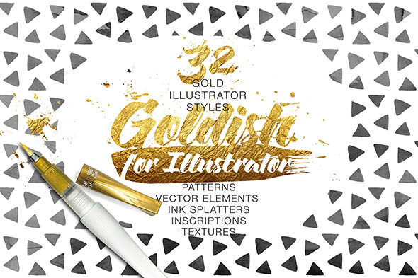 Goldish Gold Styles For Illustrator