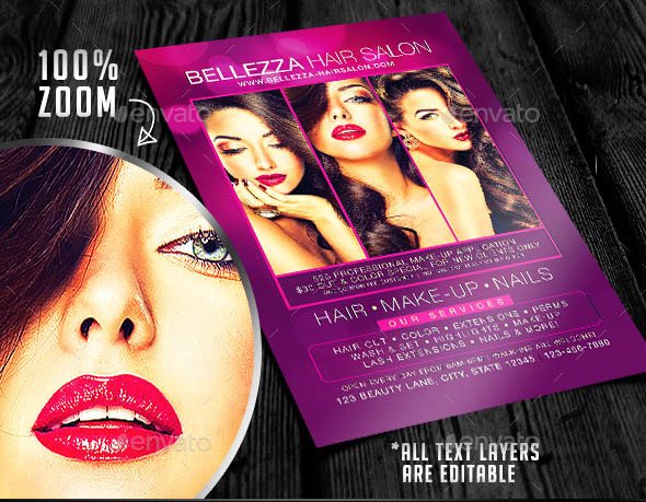... Hair Salon Flyer Templates Images Template Design Free Download ...