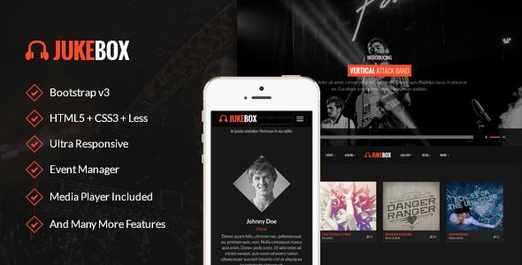 Jukebox Music and Band WordPress Theme