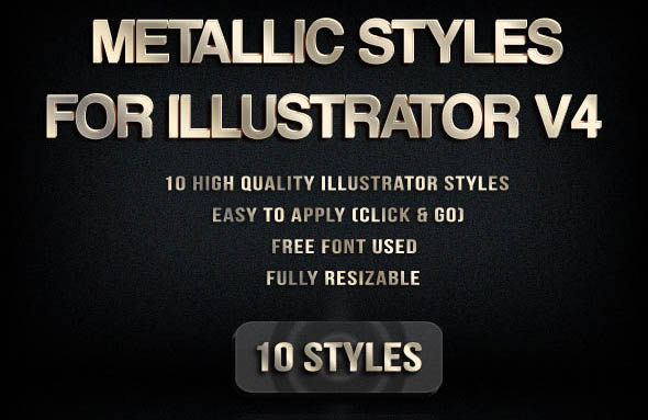 Metallic Styles for Illustrator V4