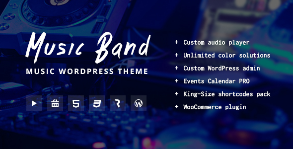 Music Band Live Event Music Club WordPress Theme