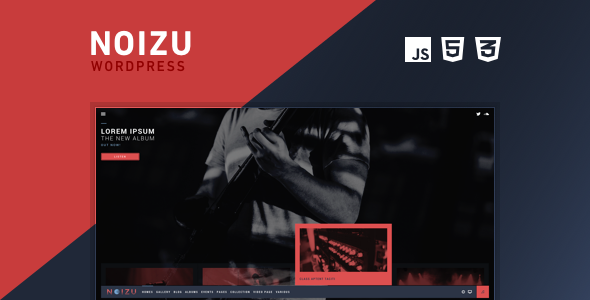 Noizu Wp Full Screen Music Theme