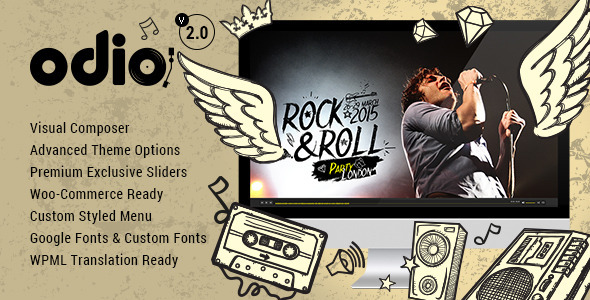Odio Music WP Theme For Bands Clubs and Musicians