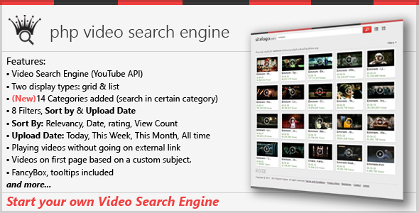 PHP Video Search Engine