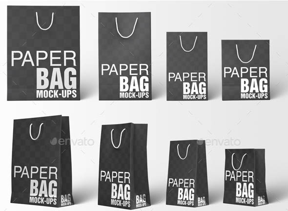 Paper Bag Mockups Paper Shopping Gift Bag Mockup