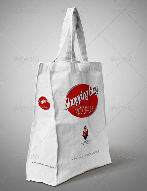 Paper Cotton Shopping Bag Mockup