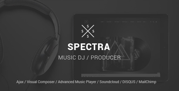 SPECTRA Responsive Music WordPress Theme