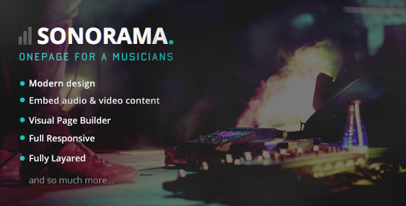 Sonorama Music Band Musician WordPress Theme
