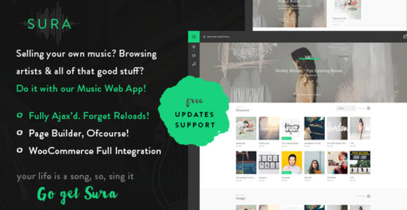 Sura A Music Web App WordPress Theme