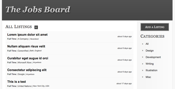 The Jobs Board