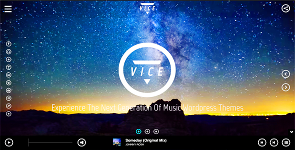 Vice Music Band Dj and Radio WordPress Theme