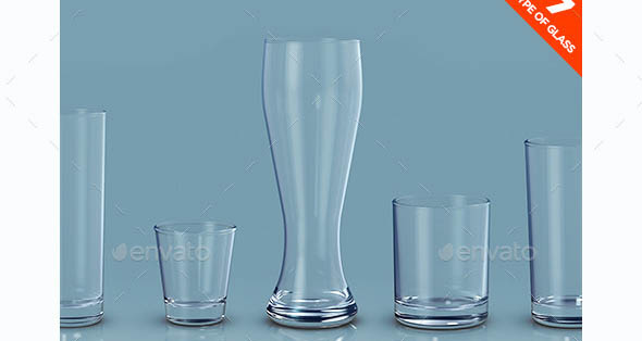 Alcohol Drink Glasses Mockup