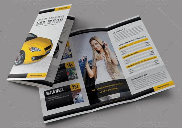 Car Wash 3-Fold Brochure