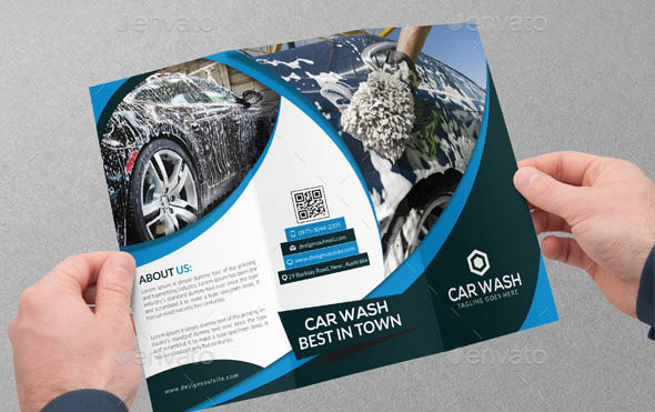 Car Wash Tri-fold Brochure 01