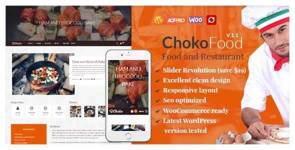 ChokoFood - Food Restaurant WordPress Theme