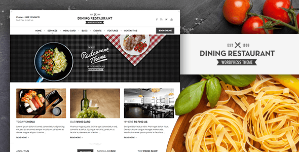 Dining Restaurant WordPress Theme For Chefs