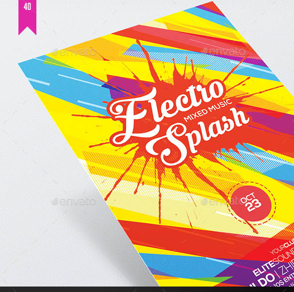 Electro Splash Flyer Template