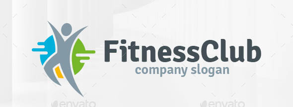 Fitness Club Human Logo