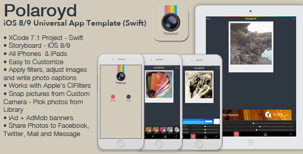 Full iOS Universal Photo App Template