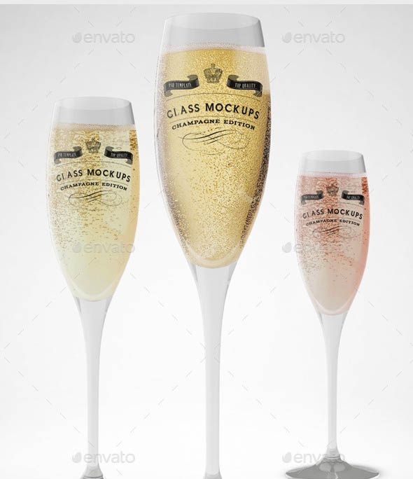 Glass Mockup Champagne Glass Mockup Volume 8 copy