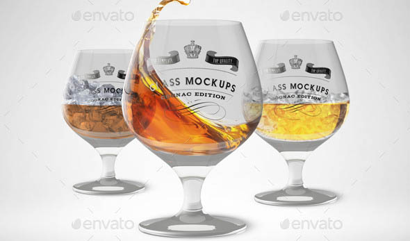 Glass Mockup Cognac Glass Mockup Volume