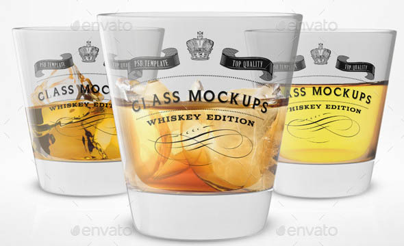 Glass Mockup - Whiskey Glass Mockup Volume 5