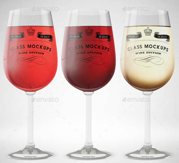 Glass Mockup Wine Glass Mockup Volume 13