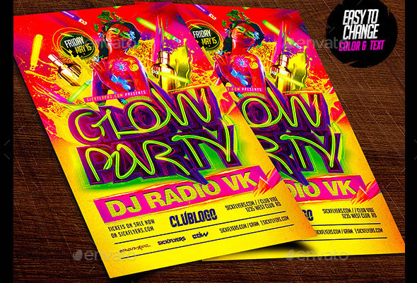 Glow Party Flyer 03
