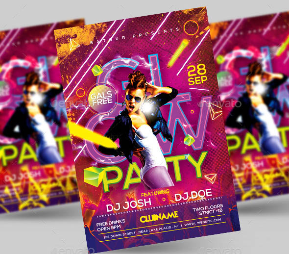 Glow Party Flyer V3
