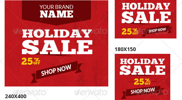 Holiday Sale Web Ad Banners Multipurpose
