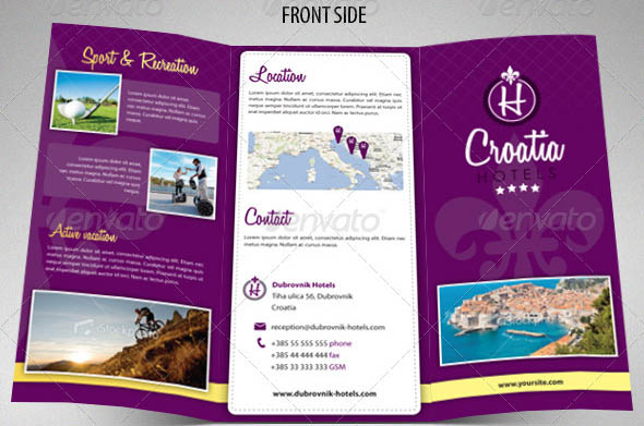 18 Trifold Brochure Templates For InDesign Desiznworld – Hotel Brochure Template