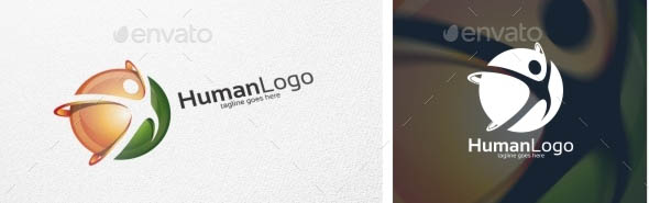 Human People Logo Logo Template
